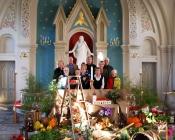 Dekoration i kyrkan inför tacksägelsedagen.